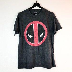Deadpool T Shirt L Circle Face Logo Short Sleeve
